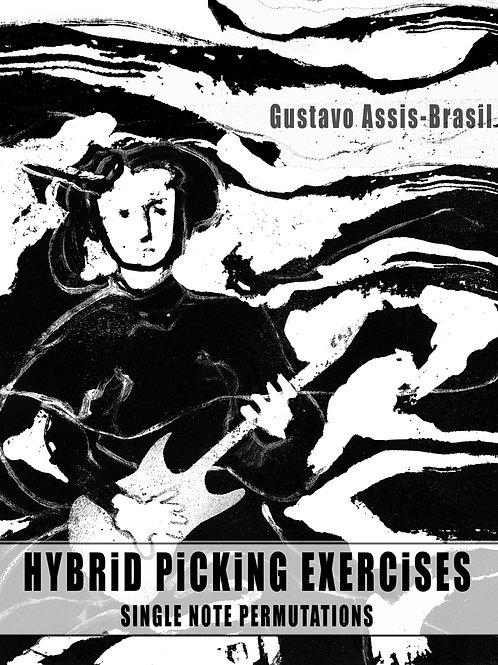 Hybrid Picking Exercises: Single Note Permutations