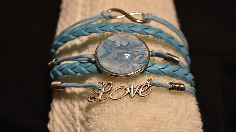Blue Love bracelet