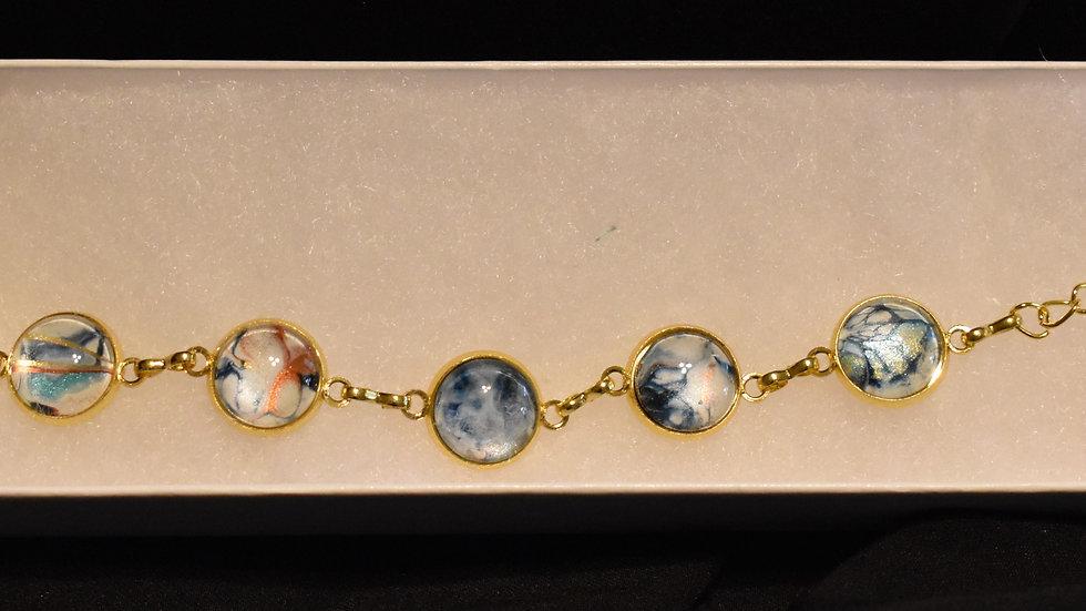 6 stone gold bracelet