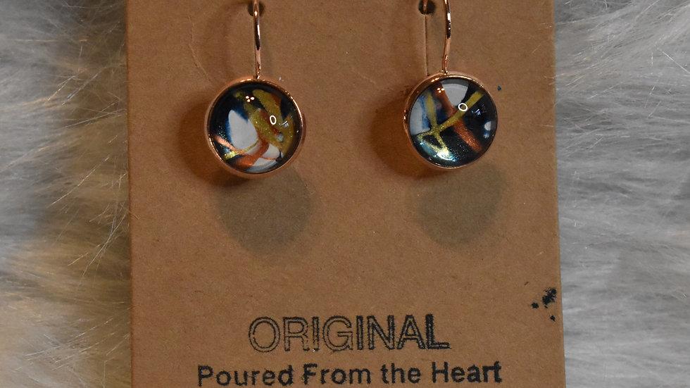 Earrings, Lever back, rose gold