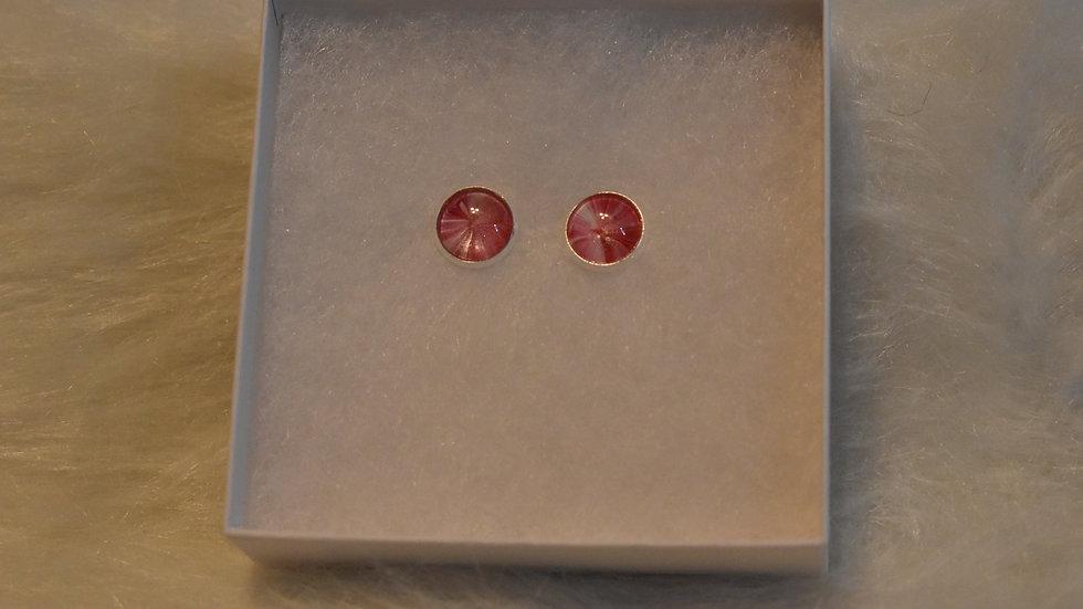 Earrings, Stud Pink