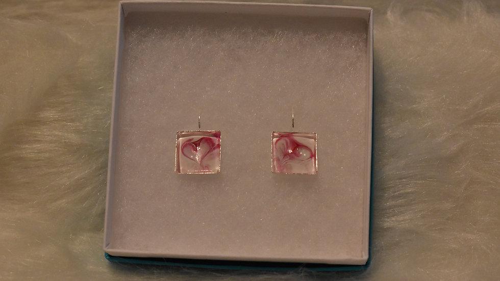 Heart Square Earrings