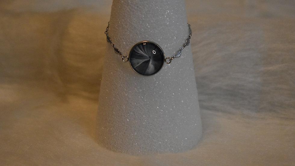 Single Stone on Silver Bracelet