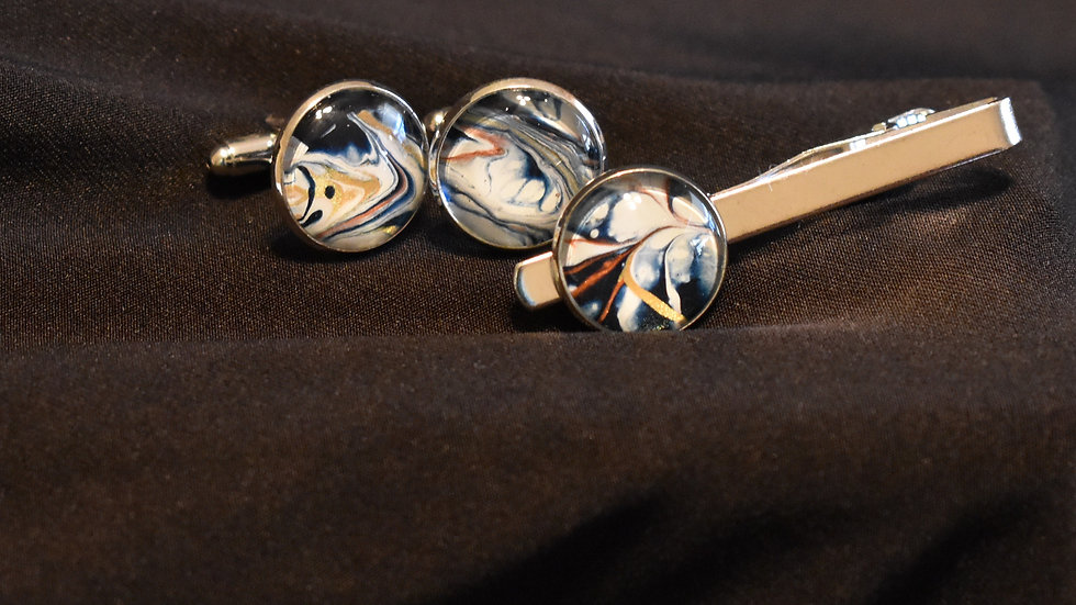 Tie Clip and Cuff Links