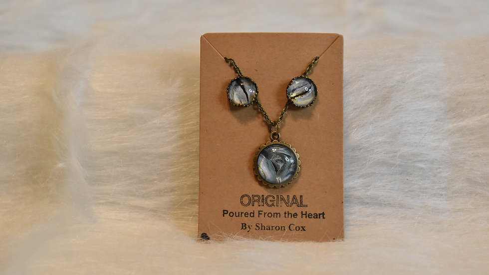 Smaller Setting with matching earrings