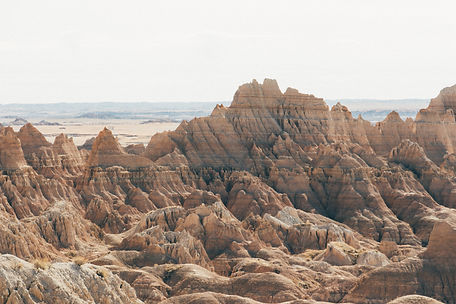 Mountains, Badlands National Park, South Dakota, USA