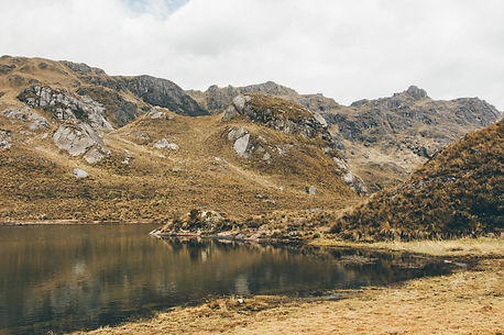 Reflexion in Cajas National Park, Cuenca, Ecuador