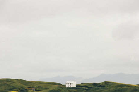 House in a plain near Vik, Iceland