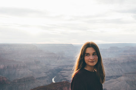 Portrait of girl in the Grand Canyon, USA