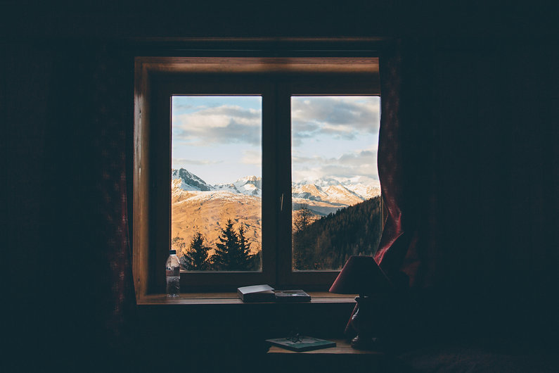 The Alps seen through a window, French Alps