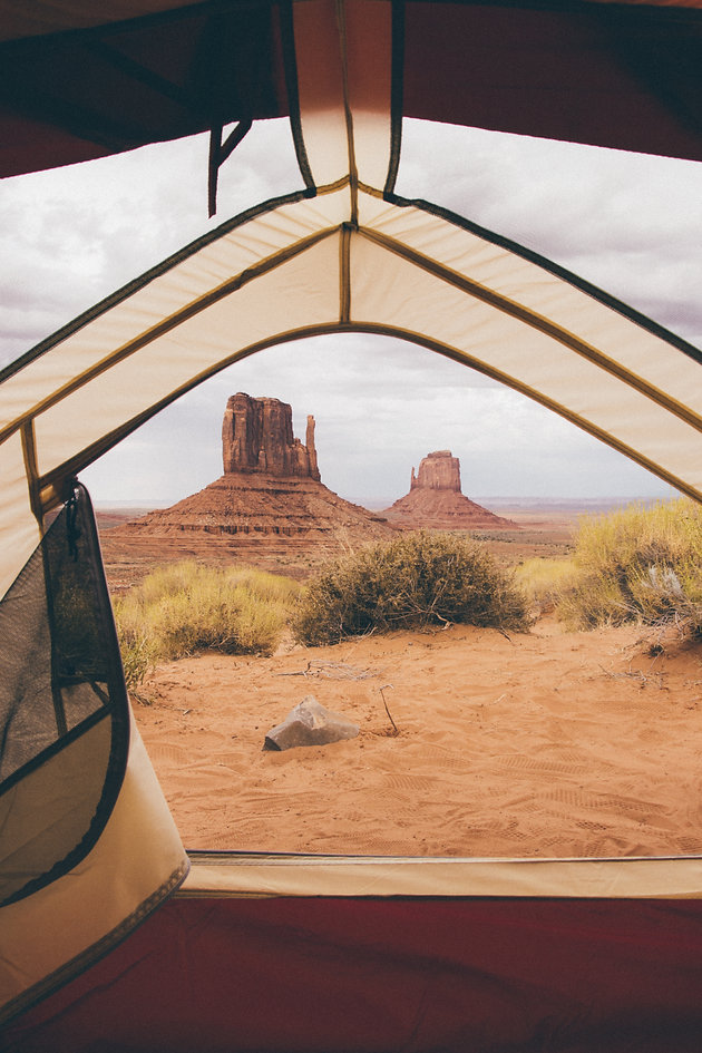 View from the tent, Monument Valley, AZ, USA