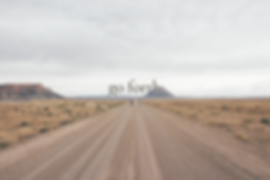 Open road, Utah, with text