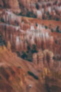 Person walking through Bryce Canyon, UT, USA