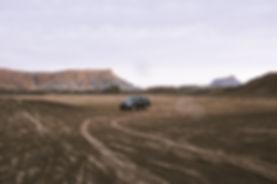 Car near Factory Butte, UT,USA