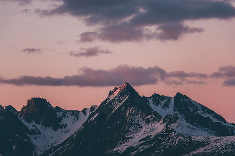 Mountains at sunset, French Alps