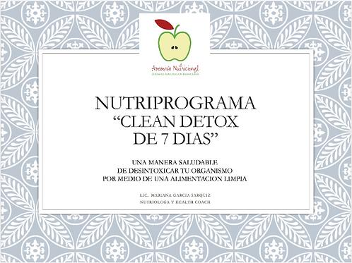 "NUTRIPROGRAMA ""CLEAN DETOX 7 DIAS"""