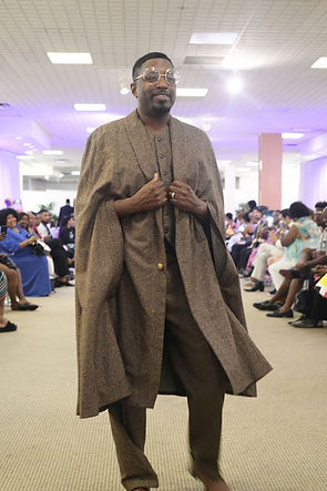 Septimius Model for E Bannister Menswear Couture