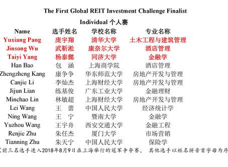 首届全球瑞资REIT投资挑战赛决赛榜单出炉!