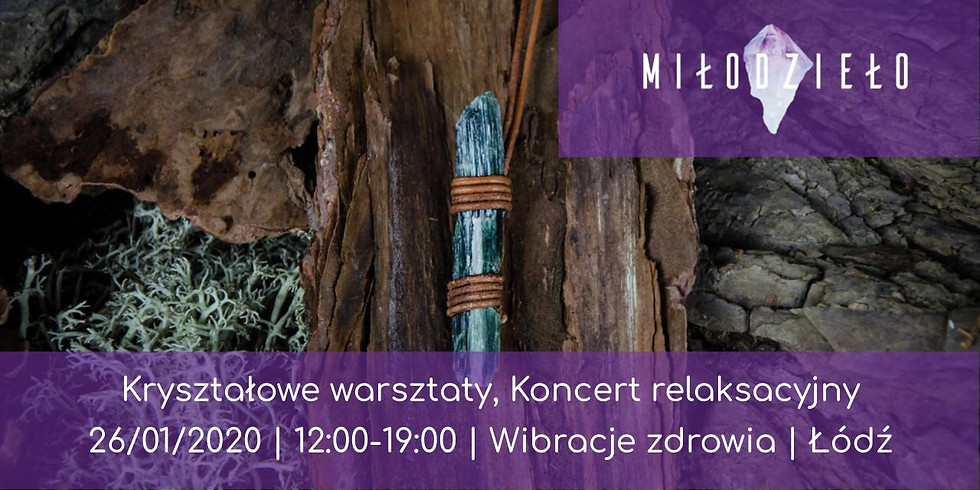 Kryształowe warsztaty, Koncert relaksacyjny - Łódź