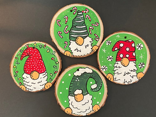 Peek-a-boo Gnome Ornament Set of Four