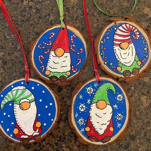 Gnome Ornament Set of Four