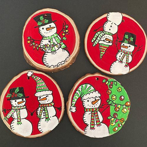 Snowmen!!! Ornament Set of Four
