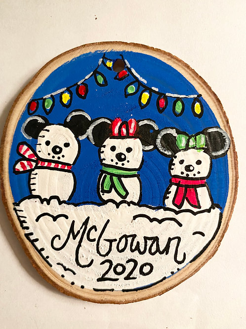 Family Mickey Ornament Personalized