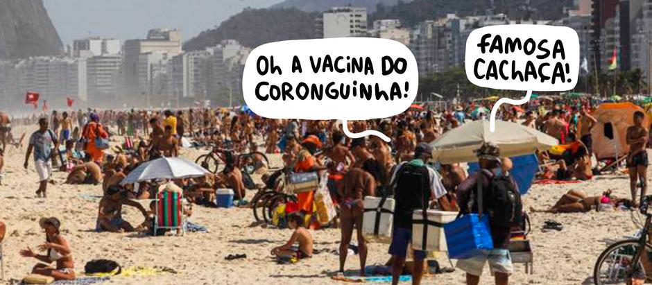 Normal ir à praia em meio a pandemia