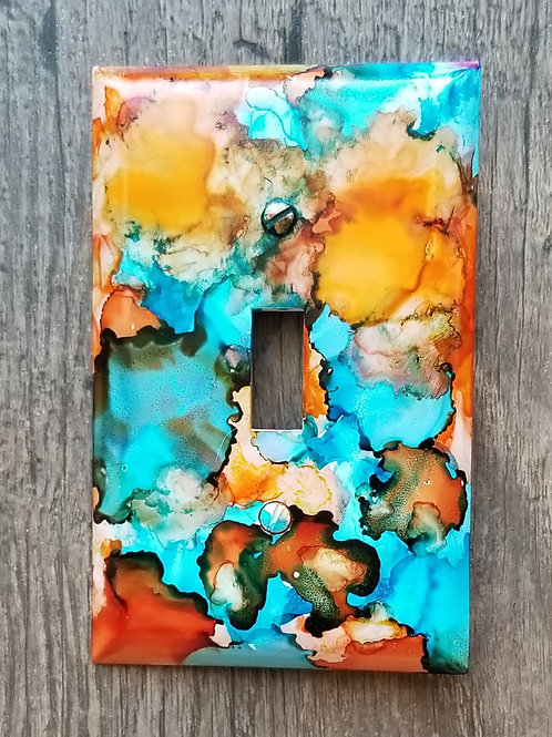 Alcohol Ink Switch Plate-Single