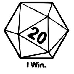I win D20