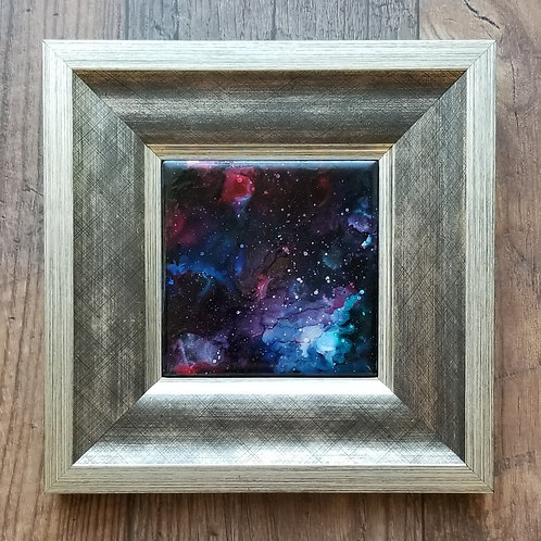 Galaxy Alcohol Ink Framed-Krystal