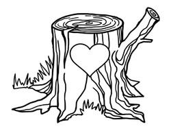 Tree Stump Initals