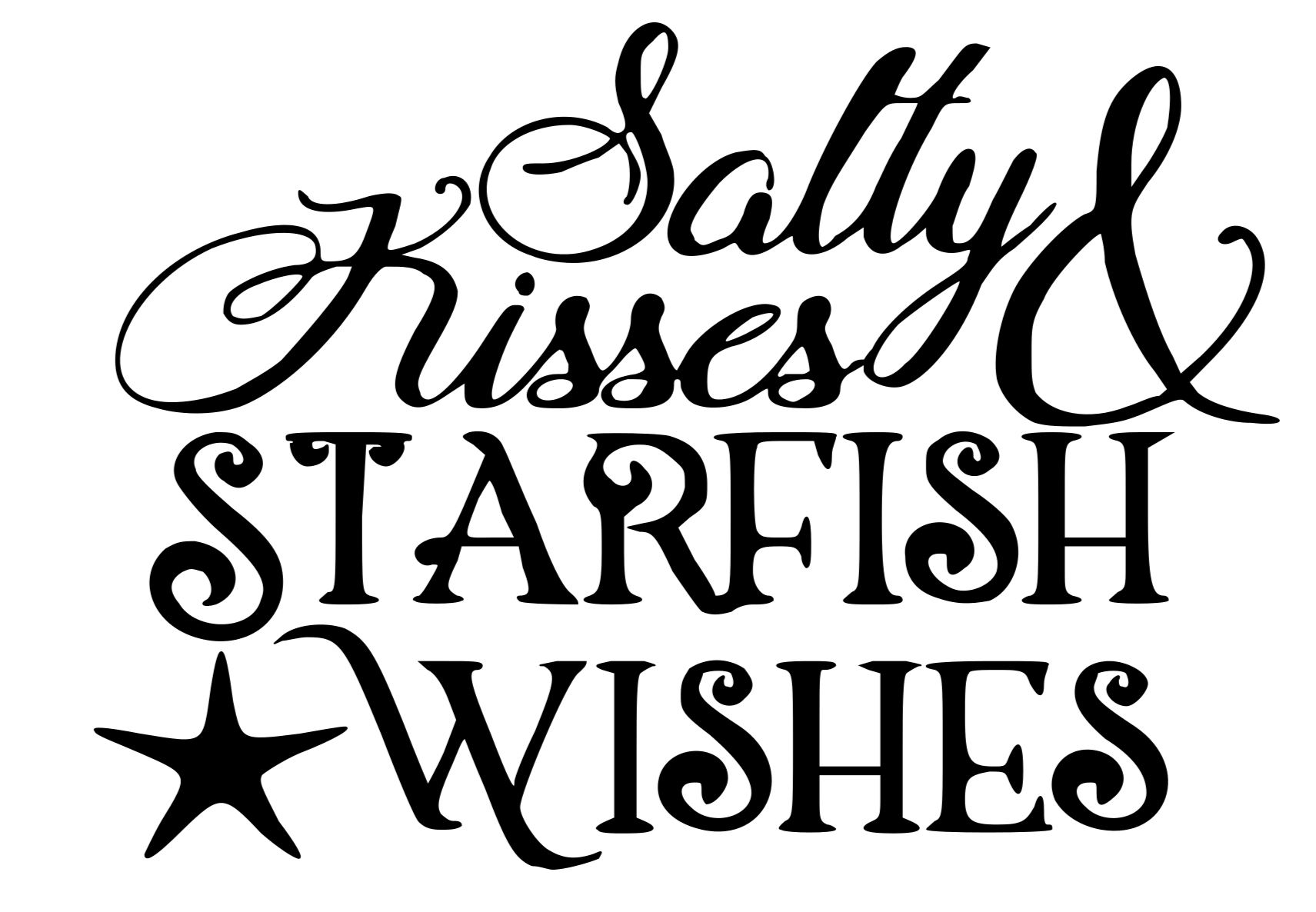 Salty Kisses Starfish wishes