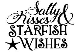 Salty Kisses Starfish wishes