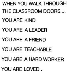 When you walk...