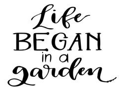 Life began in a Garden