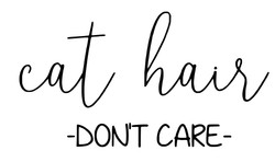 Cat hair dont care - Copy
