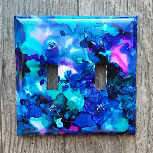 Alcohol Ink Switch Plate-Double