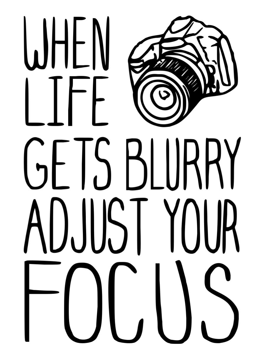 When life gets blurry, adjust