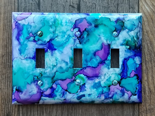 Alcohol Ink Switch Plate-Triple