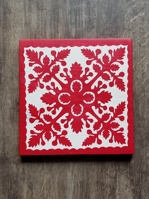Hawaiian Quilt-Red