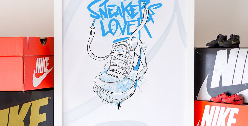 "Affiche A4 ""Sneakers Lover"""