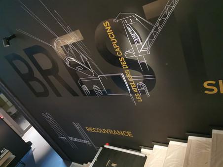 Fresque intérieure pour WAM à Brest