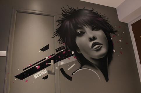 Décoration dans un salon de coiffure