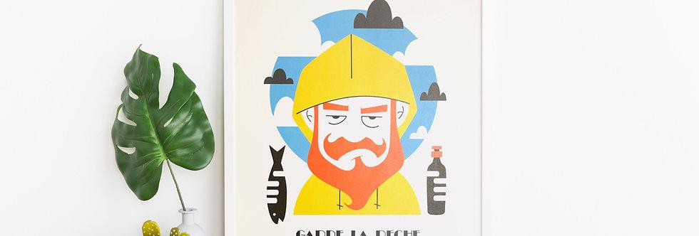 Affiche de Worm - Garde la pêche