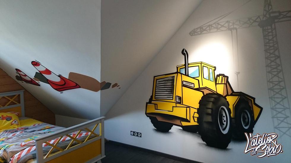Déco Graffiti chambre d'enfant