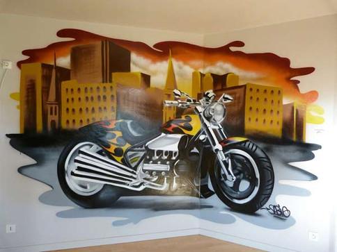 Déco Graffiti Moto