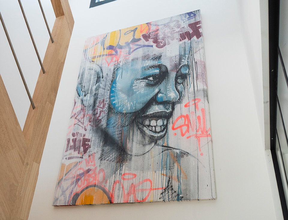 Toile de l'artiste Sabio - Keep smile
