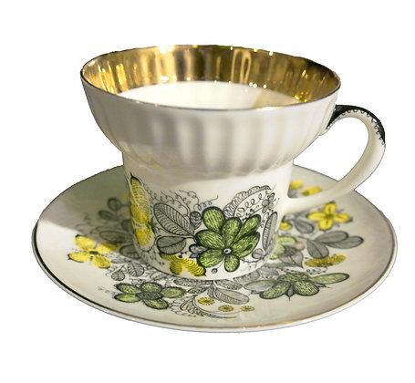 'Flora' Vintage Teacup and Saucer