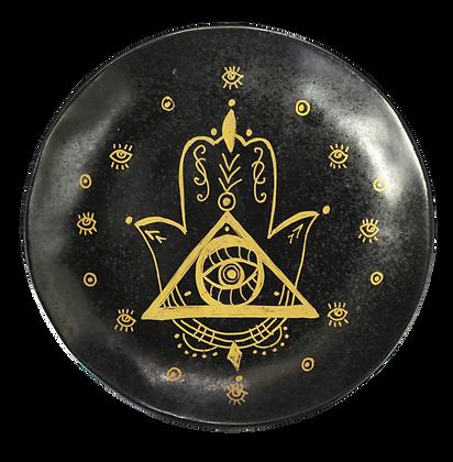 'Hamsa' Black Decor Plates